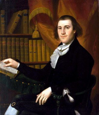 Dr. Mason Cogwell. Portrait by Ralph Earl, circa 1791. (Museum of Fine Arts, Houston)