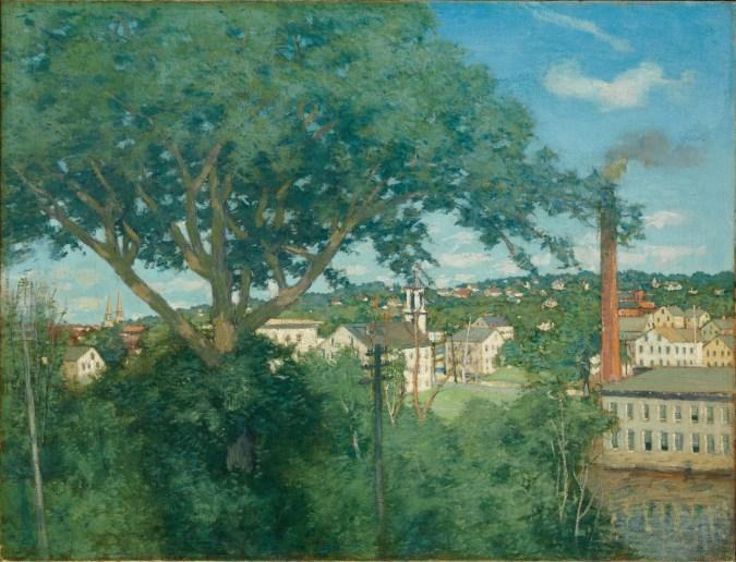 J. Alden Weir, Factory Village (c. 1897)