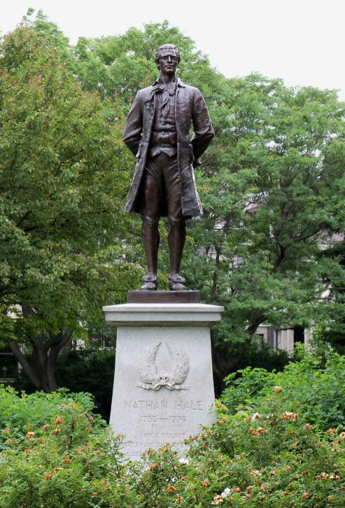 Nathan Hale Statue in St. Paul, MN.