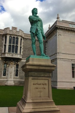 Nathan Hale Statue outside the Wadsworth Atheneum, Hartford, CT.