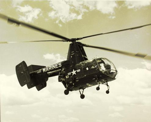 The Kaman HOK-1, later designated the HH-43 Huskie.