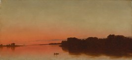 "John Frederick Kensett, ""Twilight on the Sound in Darien, Connecticut,"" 1872. (Metropolitan Museum of Art)"