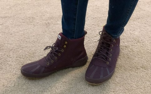 Keds Booties in Burgundy