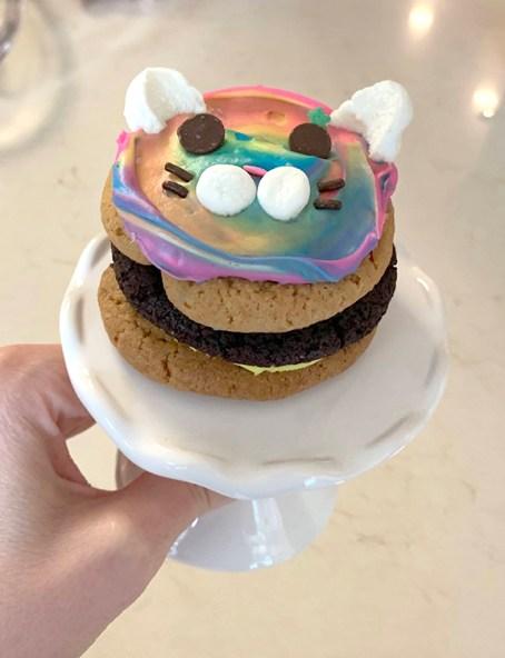 Easy Cat Mini Cookie Cakes