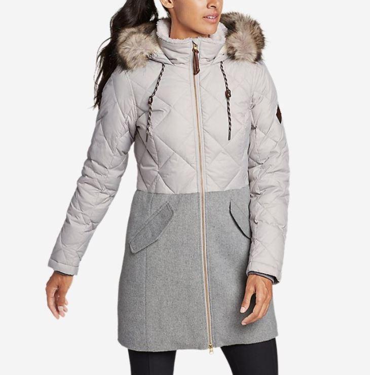 Trendy Women's Winter Coats - Lanely Hybrid Down Parka