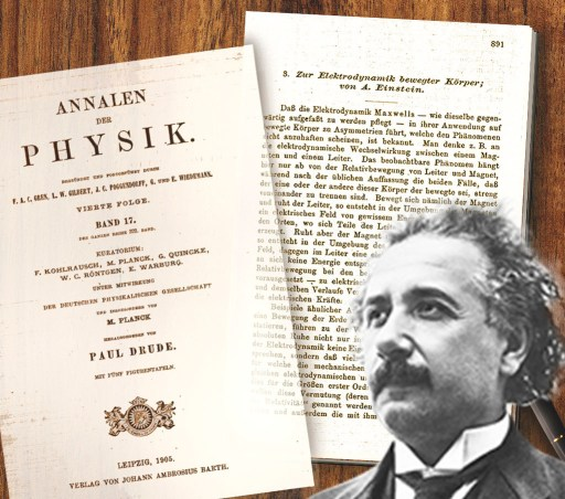 Image result for 1905 – Albert Einstein's paper that leads to the mass–energy equivalence formula, E = mc², is published in the journal Annalen der Physik.