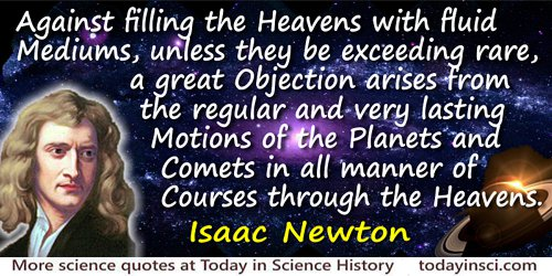 Sir Isaac Newton Quotes on Planet from 213 Science
