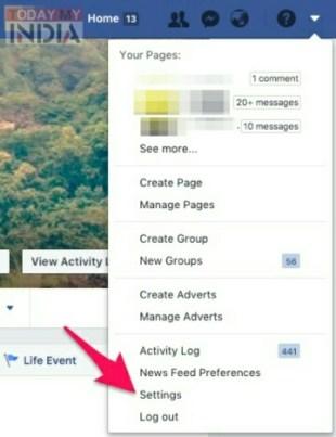 Facebook Account Deactivate या Delete कैसे करे। 2