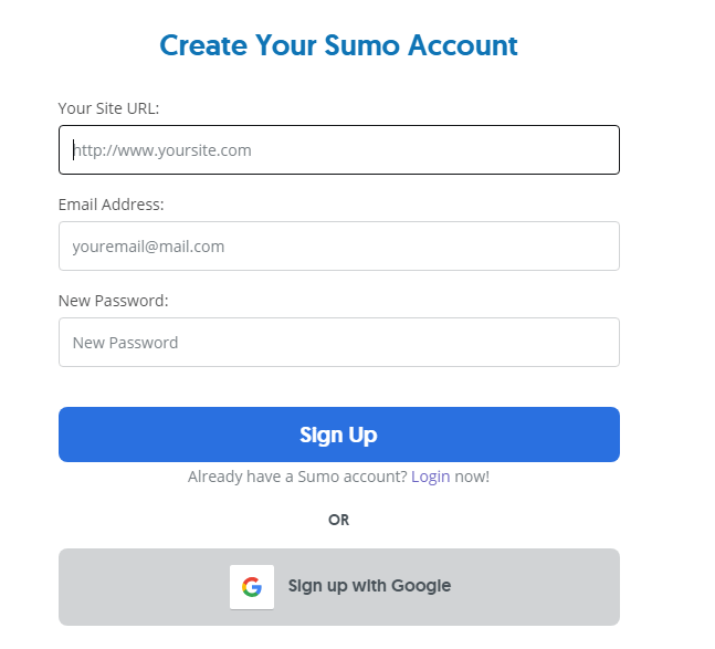 Sumo Email popup Subscription Box
