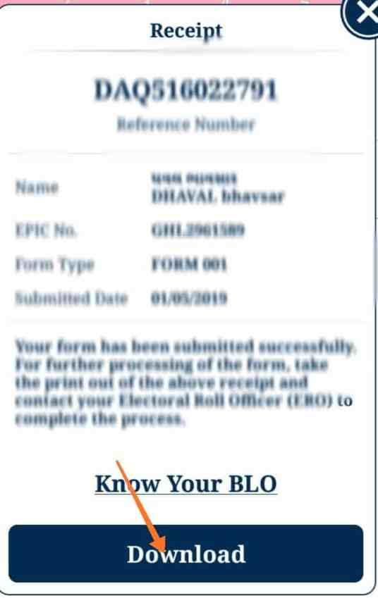 Duplicate Voter Id card