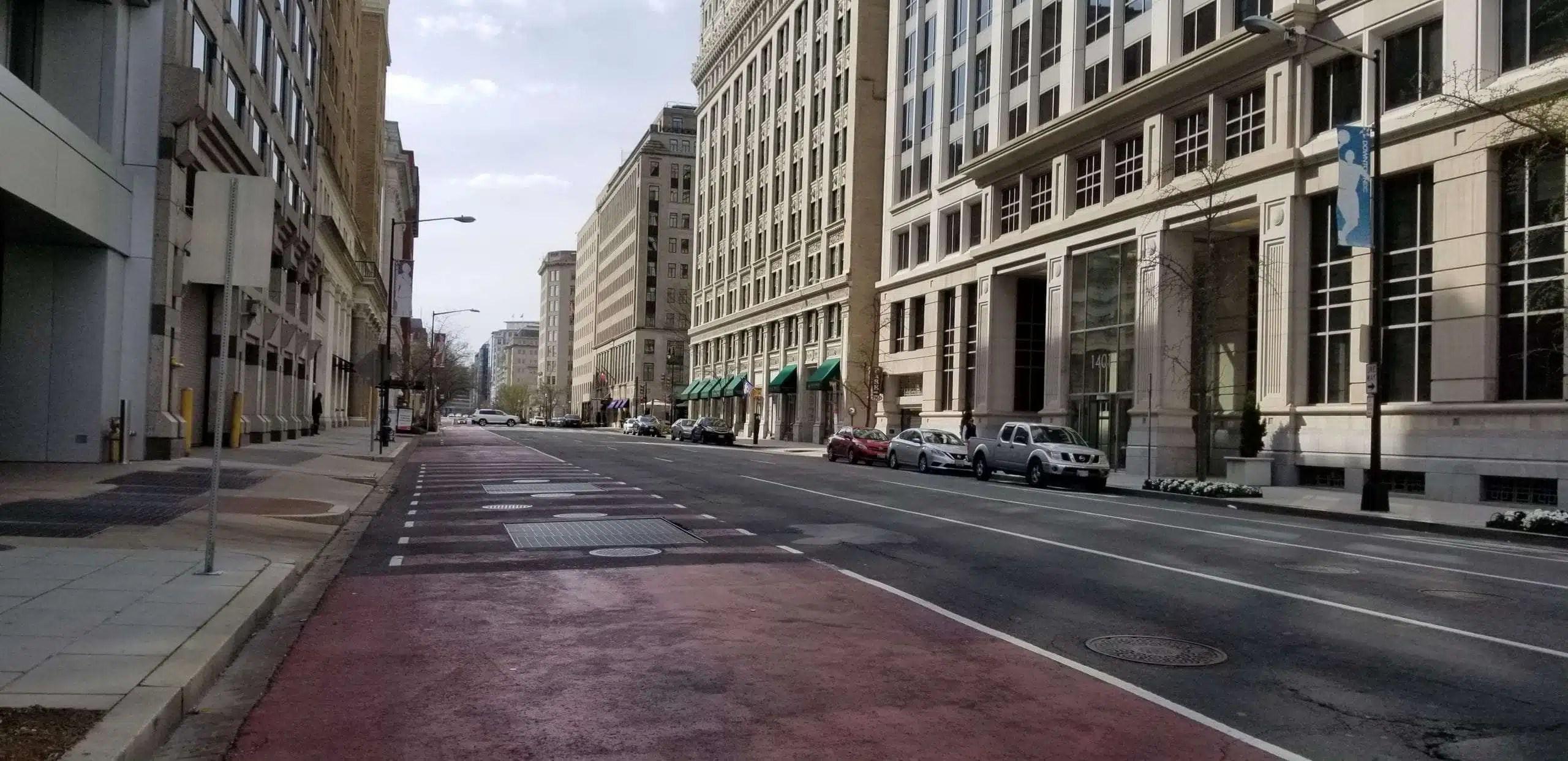 Washington DC during coronavirus quarantine March 22