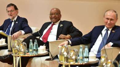 President Jacob Zuma with other Heads of States and Government participating in the retreat for G20 Leaders which focused on terrorism and extremism. President Zuma is in Hamburg