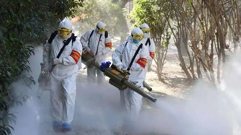 coronavirus cleaning in China