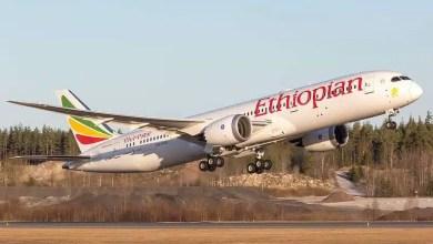 ET-AXL Boeing 787-9 Dreamliner Ethiopian Airlines Ethiopian 714 to Oslo.