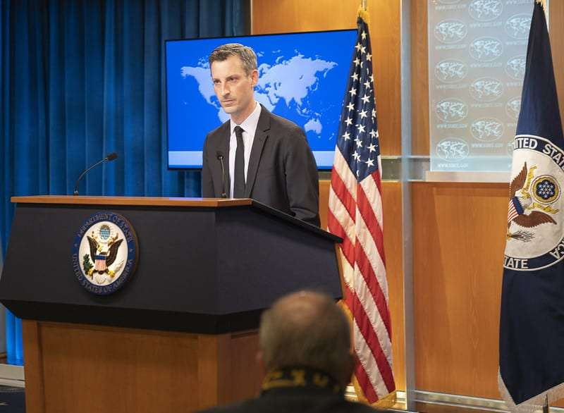 Department Spokesperson Ned Price holds the Daily Press Briefing at the U.S. Department of State in Washington