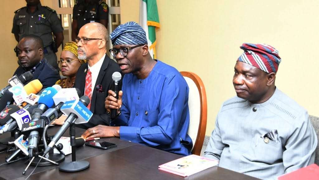 R-L: Lagos Commissioner for Information and Strategy