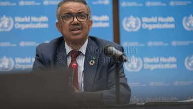 WHO Director-General Dr Tedros Adhanom Ghebreyesus at a press conference following the fourth meeting of the International Health Regulations (IHR) Emergency Committee for Pneumonia due to the Novel Coronavirus 2019-nCoV