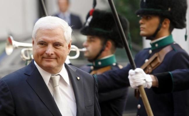 Panamanian President Ricardo Martinelli