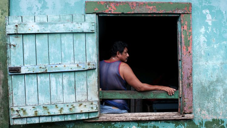 Bluefields sits along Nicaragua's Caribbean Coast. It's a place where six in 10 people live in extreme poverty. (Juan Carlos for NPR)