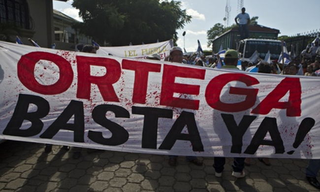 Nicaraguan canal protest