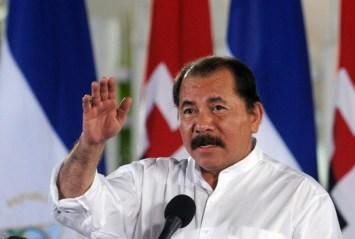 Nicaraguan President Daniel Ortega deliv