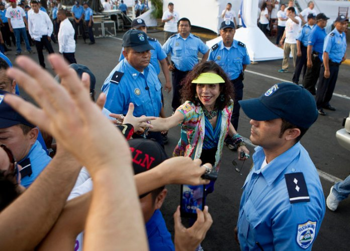 Rosario Murillo greeted supporters in 2014 in Managua, Nicaragua. Credit Esteban Felix/Associated Press