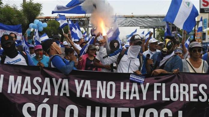 Nicaraguans rally against president Ortega