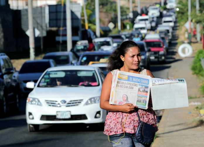 La Prensa runs blank front page in protest of Ortega regime