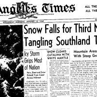 Jan-11-1949: The Great LA Snow Storm