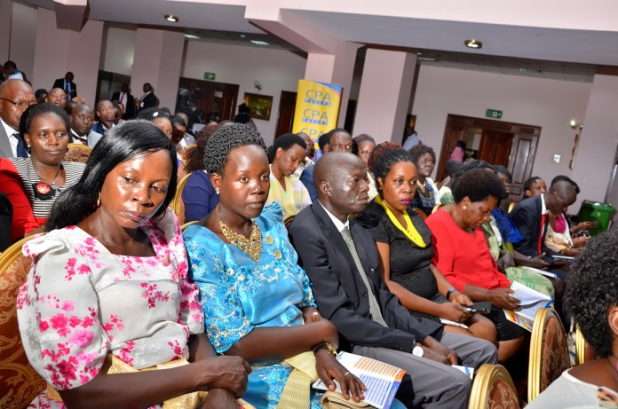 A cross section of parents and guardians at the ceremony
