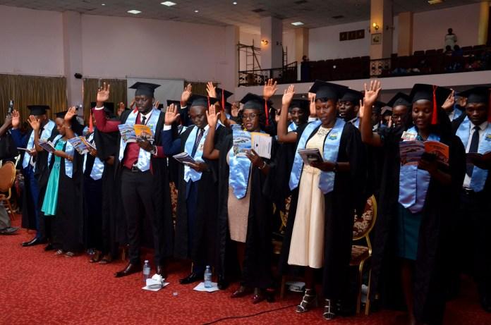CPA Graduates taking the CPA Uganda Oath