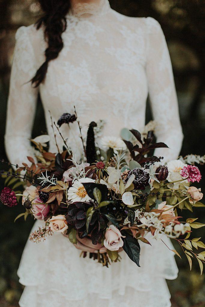 Dark And Moody Halloween Styled Shoot Todays Bride