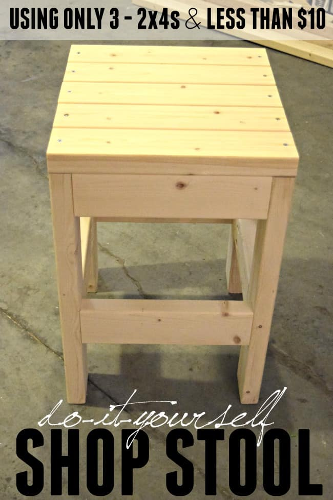 DIY Shop Stool Quick Amp Easy Tutorial Todays Creative