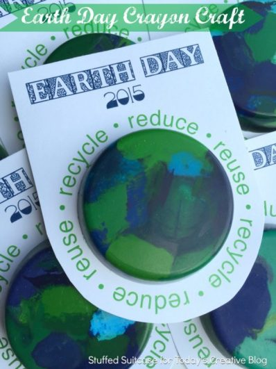 DIY Earth Day Crayon Craft | TodaysCreativeBlog.net