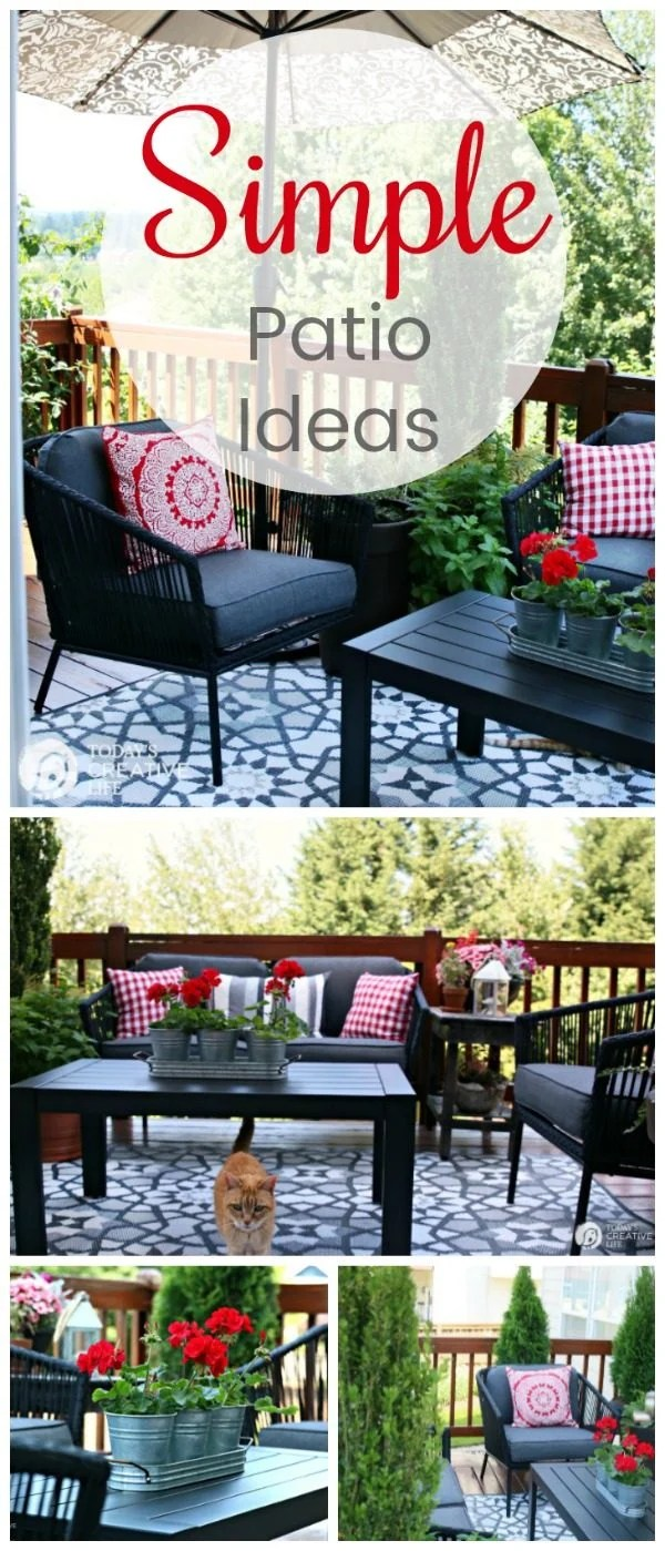 Small Patio Decorating Ideas - My Patio | Today's Creative ... on Budget Friendly Patio Ideas  id=89801
