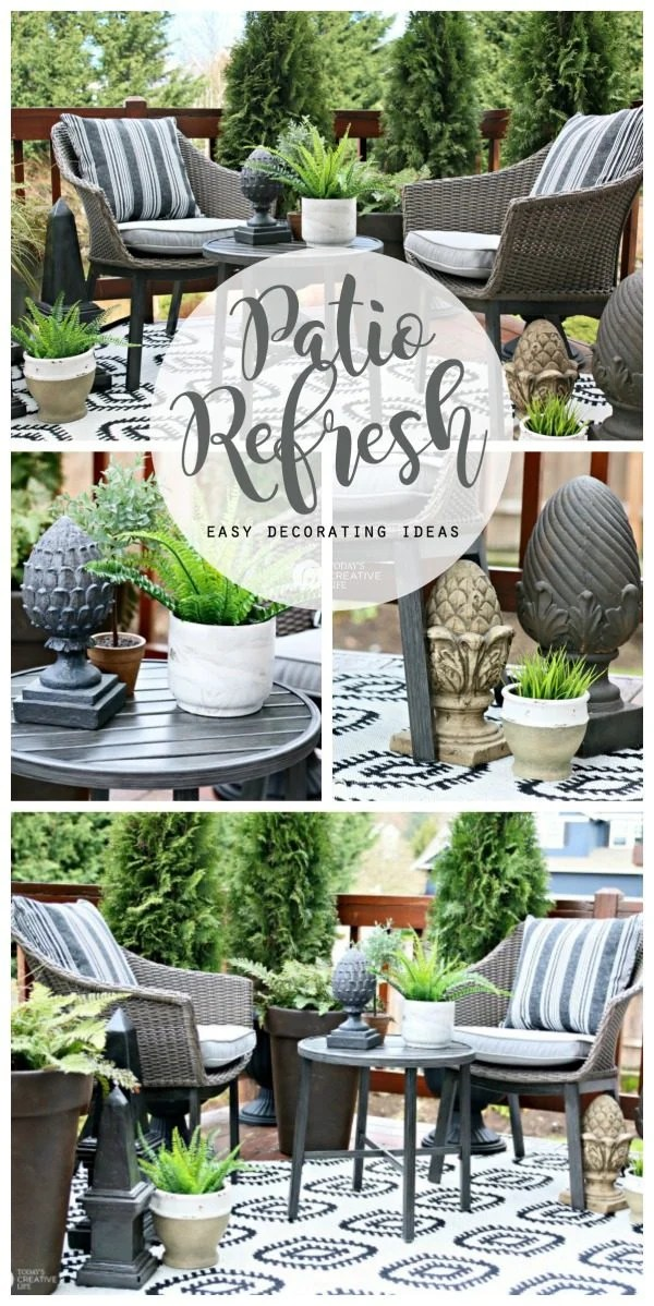 Easy Patio Decorating Ideas | Today's Creative Life on Backyard Patio Decorating Ideas id=97082