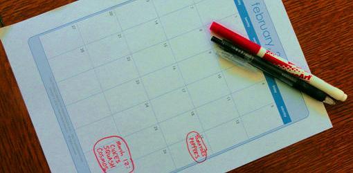 Seed planting calendar