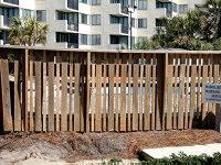 Permeable wood fence