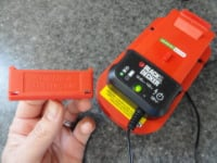 Cordless rechargeable tool battery charger