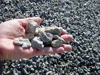 Holding sharp gravel