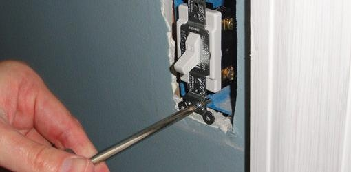 Attaching new wall switch to electrical box