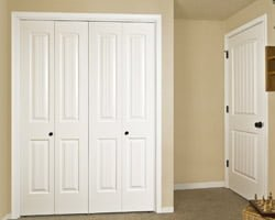 New white, frame and panel, interior doors