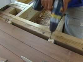 Installing tongue and groove ipe flooring with stainless steel screws