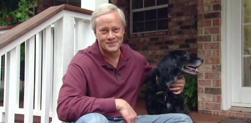 Danny Lipford with dog