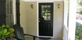 New entry door after installation on home.