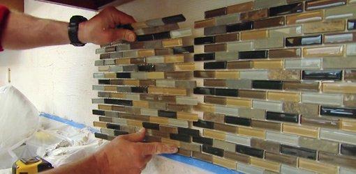 how to install a mosaic tile backsplash