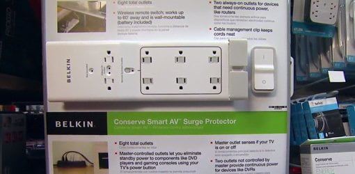 Belkin Conserve Surge Protector with wireless remote.