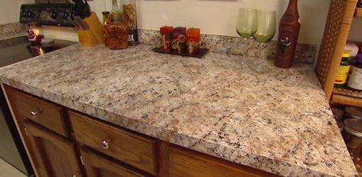 Faux Granite Kitchen Countertop Paint