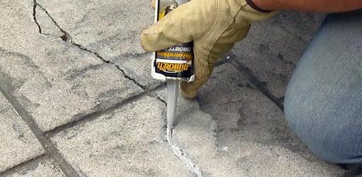 repairing cracks in concrete