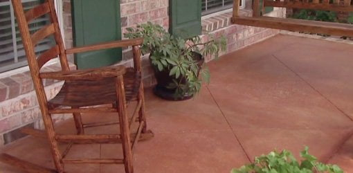 improving the look of a concrete porch floor